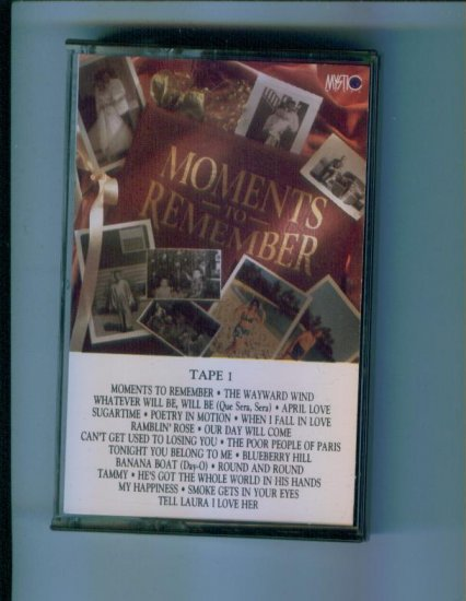Mystic Music Presents Moments to Remember Tape One 1 Cassette