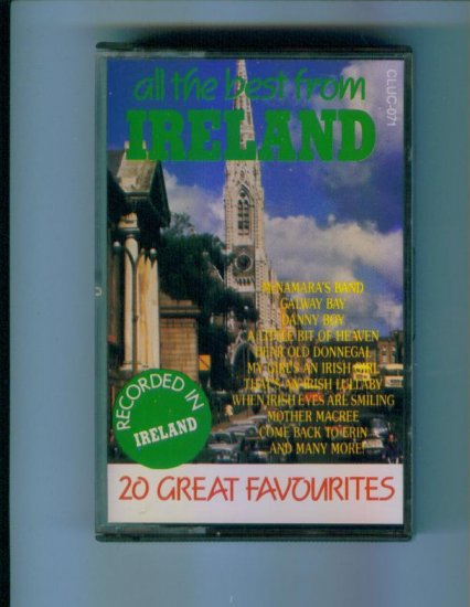 All The Best From Ireland 20 Great Favourites Favorites Music Cassette