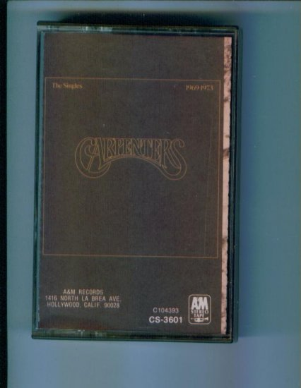 Carpenters The Singles 1969 - 1973 Music Cassette