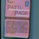Patti Page 20 Golden Hits Music Cassette