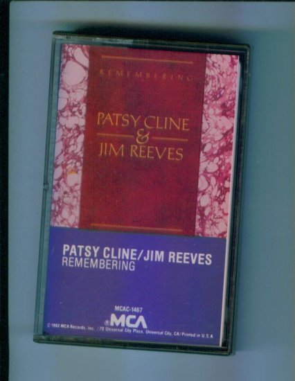 Patsy Cline & Jim Reeves Remembering Music Cassette Classic Country Leavin on Your Mind