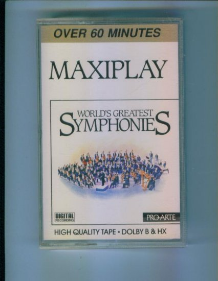 WORLD'S GREATEST SYMPHONIES Cassette Classical Music