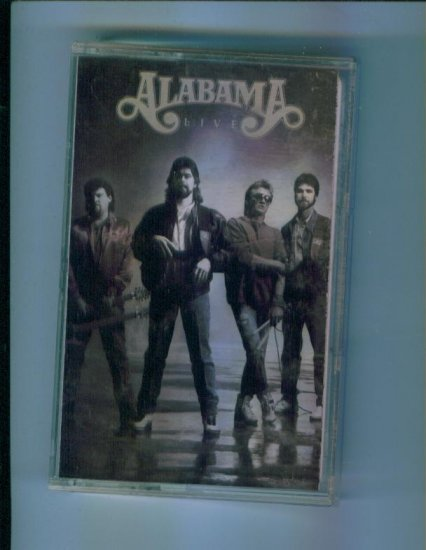Alabama Alabama Live Music Cassette RCA Records