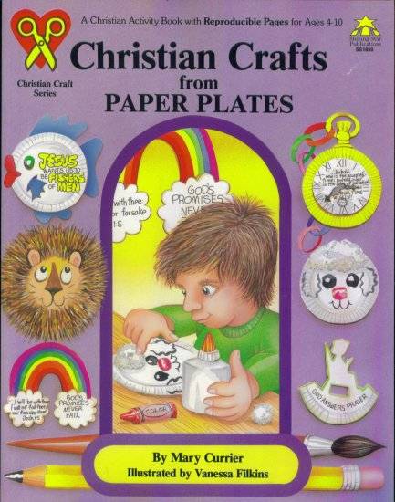 Christian Crafts from Paper Plates Reproducible Book Guide Ages 4 - 10 Mary Currier location41