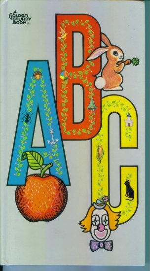 Vintage Chipboard A Golden Sturdy Book Children's ABCs
