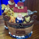 Cute Noah's Ark Trinket Box Bear, Lion, Giraffe and an Elephant