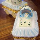 Porcelain Baby Boy Trinket Box Money Gift Box Keepsake Boxes