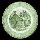 The Old Curiosity Shop Green Dinner Plate Old Vintage Dinnerware