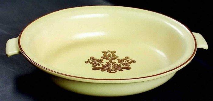 Pfaltzgrafff Village Stoneware Dinnerware Oval Vegetable Bowl with Handles