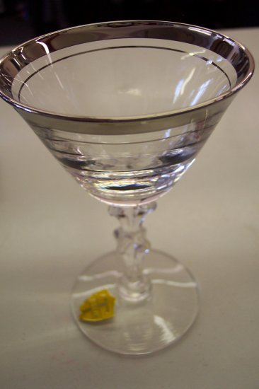 Service For Four Tiffin Franciscan Sarita Crystal Glasses Stemware - Liquor Cordial
