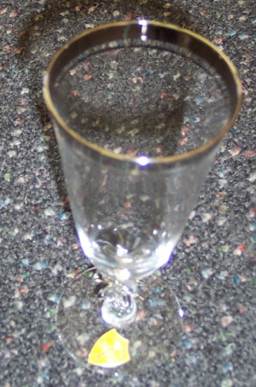 "Service For Four Tiffin Franciscan Sarita Crystal Glasses Stemware - Juice 6 1/8"" Rare"