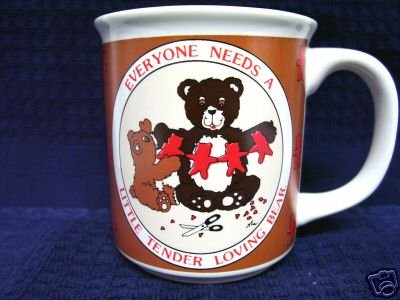 HALLMARK Little Tender Loving BEAR MUG 101-2647 Coffee Lover Gift