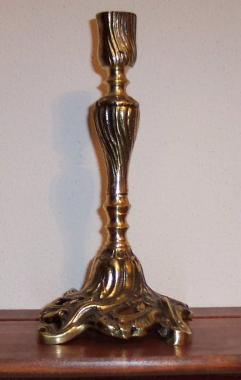Vintage Antique Finish Brass Candle Stick Candlestick
