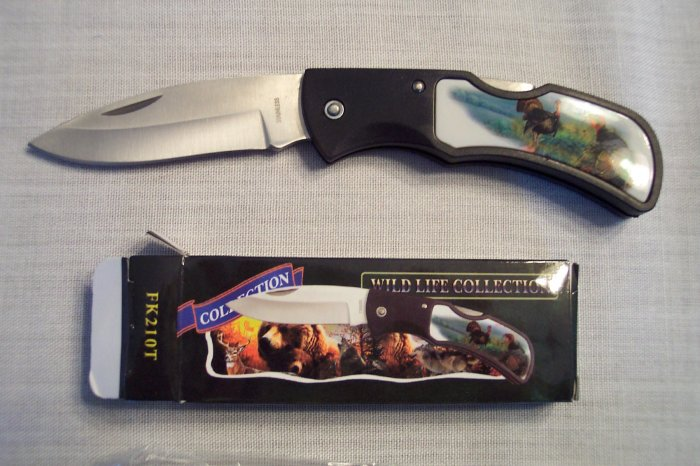 Wild Life Wildlife Collection Pocket Knife ~ FROST CUTLERY ~ Sporting Goods ~ TURKEY ~ FK210T