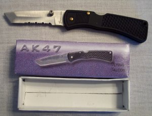 FLYING FALCON AK47 Pocket Knife ~ Sporting Goods ~ FROST ...