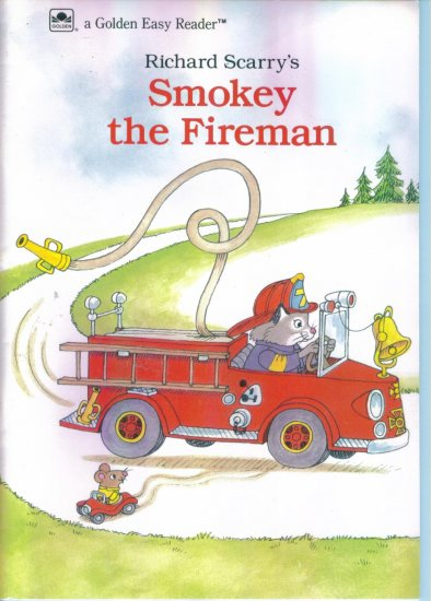 Richard Scarrys Smokey The Fireman ~ A Golden Easy Reader location96