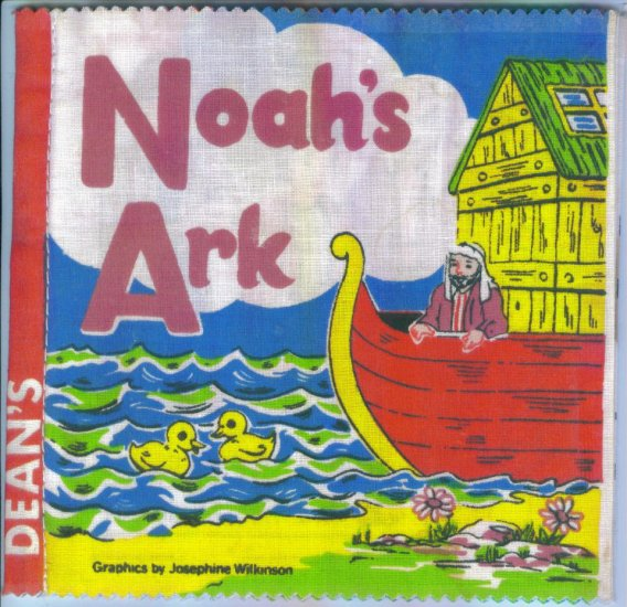 Vintage Baby Books Noah's Ark Dean's Rag Book Made in UK Cloth Children's Book OUT of PRINT box3