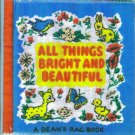 Vintage Baby Books All Things Bright And Beautiful Dean's Rag Book Cloth location3