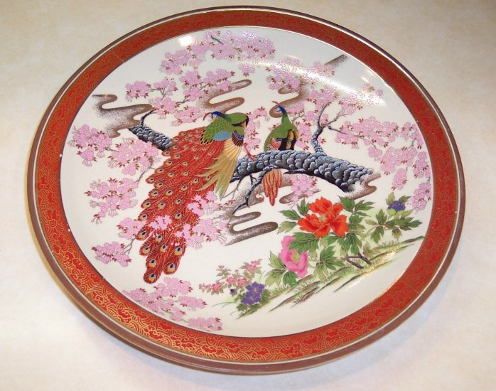 Japanese Porcelain Display Plate Wall Art Decor Hand painted