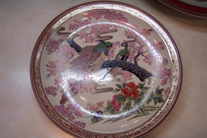 9 3/4 Japanese Porcelain Display Plate Wall Art Decor Hand painted