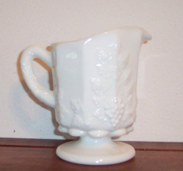 Westmoreland Paneled Grape Creamer Milk Glass