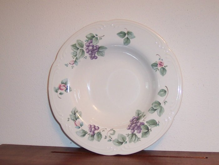 Pfaltzgraff Large Rimmed Soup Bowl Grapevine Dinnerware Dishes locw18