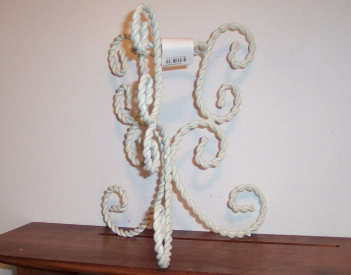 Vintage Shabby Chic Chippy Painted White Candle Holder locw20 Cottage French Country