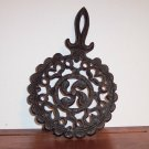 Wrought Iron Trivet Wall Art Decor Round Scalloped Edge locw20