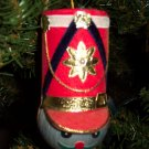 Rare Vintage Christmas Ornament Soldier Felt Foil Hat box3 ORN7