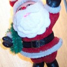 Vintage Plasitc Flocked Santa Ornament Old Ornaments ORN8 location3