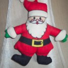 Vintage Stuffed Fabric Santa Ornament Old Ornaments