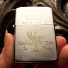 Vintage Silver Flip Top Lighter Goode's Drive In Amsterdam Texas