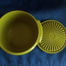Vintage Tupperware Small Olive Green Container with Lid
