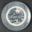 "Blue Currier & Ives Bread & Butter Plate 6 3/8"" Harvest Scene by Royal Dinnerware Box20"