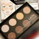 NYX PRO Contour & Highlight Palette 8 Beautiful Colors New In Box