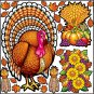 Thanksgiving Reusable Decal Stickers