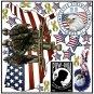 Patriotic USA Reusable Decal Stickers