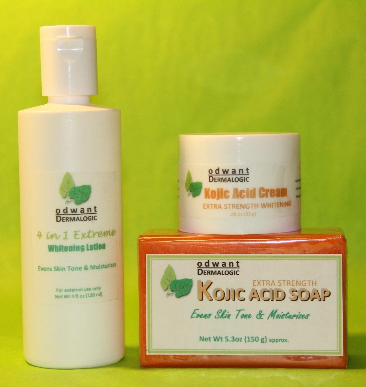 Kojic Acid Soap 4in1 Lotion Skin Whitening Lightening Set