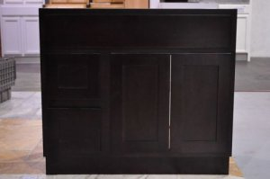 36 Inch Shaker Style Espresso Bathroom Vanity Left Drawers Cabinet 36""