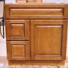 30 Inch Heritage Style Caramel Bathroom Vanity Left Drawers Cabinet 30""