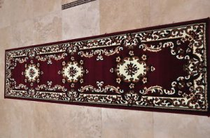 2x8 RUG RUNNER RED IVORY KITCHEN BATHROOM HALLWAY AREA