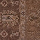 8x10 WOOL HANDMADE RUG BROWN IVORY PESHAWAR GOLD CAMEL VEGETABLE DYE MUTED