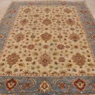 8x10 HANDMADE AREA RUG VEGETABLE DYE CHOBI BEIGE BLUE