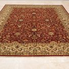 9x12 TWISTED WOOL AREA RUG HANDMADE PERSIAN RED IVORY