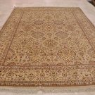 9x12 RUG PERSIAN VEGETABLE DYE WOOL IVORY YELLOW RUST