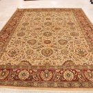 9x12 RUG PERSIAN VEGETABLE DYE GHAZNI WOOL IVORY RED