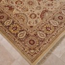 9x12 RUG FINE PERSIAN VEGETABLE DYE IVORY GRAY RED RUST