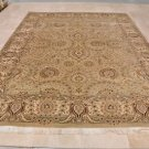 9x12 AREA RUG PERSIAN VEGETABLE DYE GREEN IVORY RUST