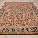 9x12 AREA RUG FINE PERSIAN VEGETABLE DYE RED BLUE WOOL