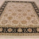 9x12 WOOL RUG HANDMADE VEGETABLE DYE CHOBI IVORY BLACK